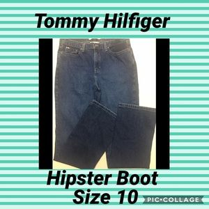 TOMMY HILFIGER HIPSTER BOOT JEANS SIZE 10